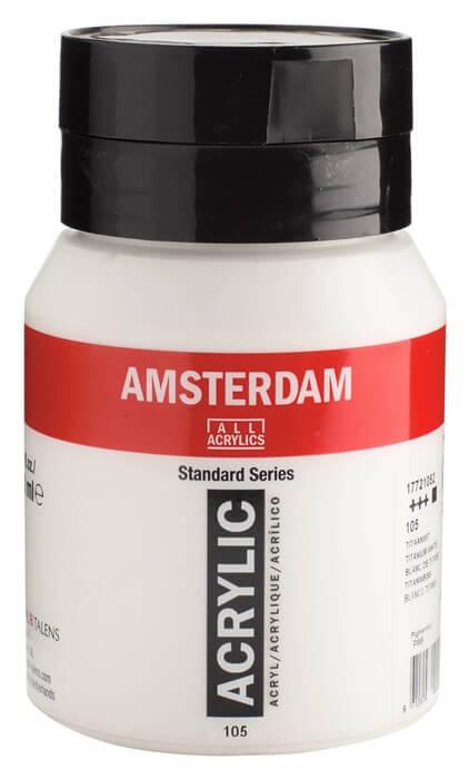 Ams std 105 Titanium white - 500 ml