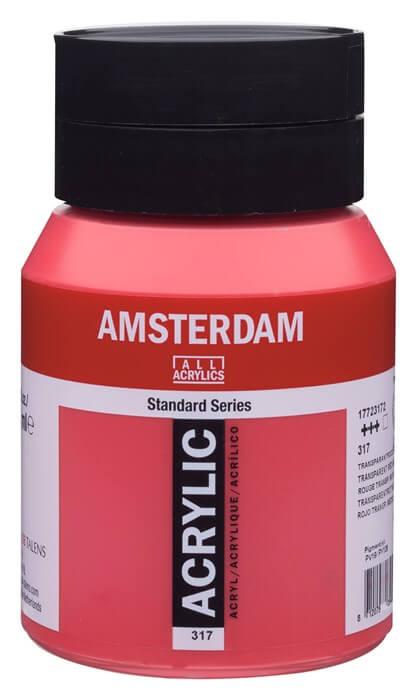 Ams std 317 Transparent red Medium - 500 ml